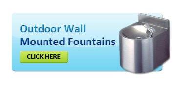 Outdoor Wall Mounted Drinking Fountain